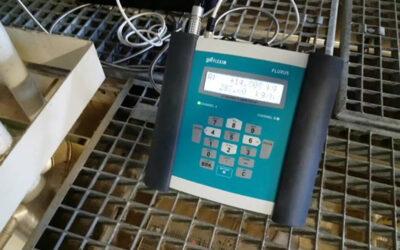"""Gőz áramlásmérés FLEXIM Ultrahangos """"Clamp-on"""" áramlásmérővel!"""